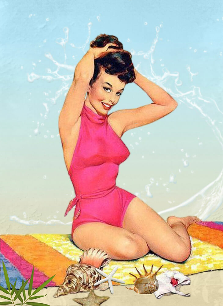 Retro Pin Up Free Jigsaw Puzzles Online
