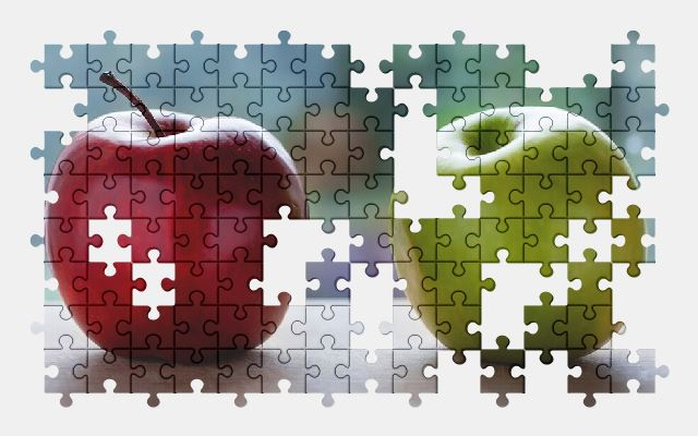 free jigsaw puzzle online apple,color,food,fruit
