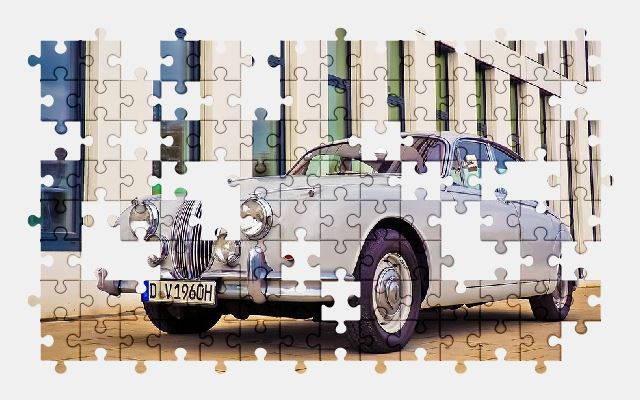free jigsaw puzzle online auto,jaguar,oldtimer,vehicle,classic,automobile,car