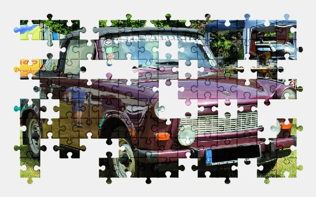 free jigsaw puzzle online auto,old,trabant,car