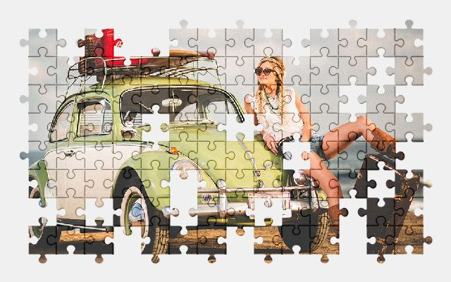 free jigsaw puzzle online automobile,vw,beach,beetle,car,volkswagen