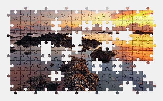 free jigsaw puzzle online beach,nature,ocean,sea,sky