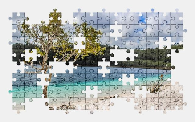 free jigsaw puzzle online beach,island,water,summer,beautiful,nature,sky
