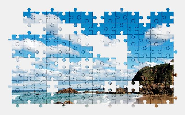 free jigsaw puzzle online beach,sea,holiday,summer,nature