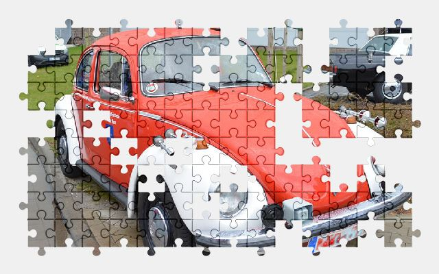 free jigsaw puzzle online beetle,fire-truck,vehicle,car