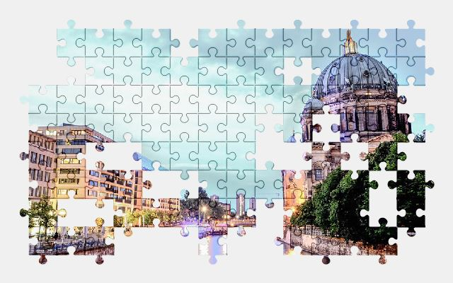 free jigsaw puzzle online berlin,city,architecture,germany,buildings