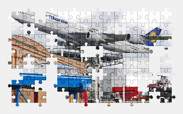 free jigsaw puzzle online boeing,museum,aircraft