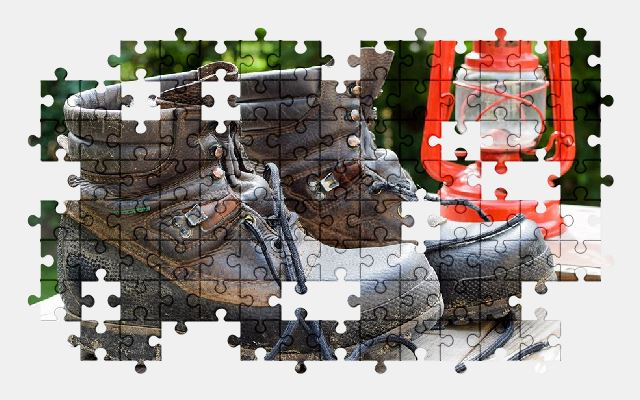 free jigsaw puzzle online boot,lamp