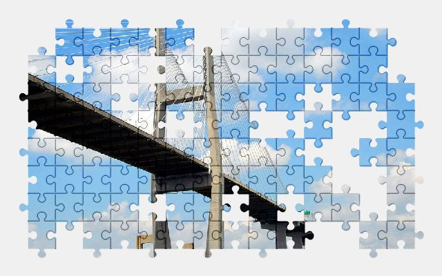 free jigsaw puzzle online bridge,architecture,city,sky
