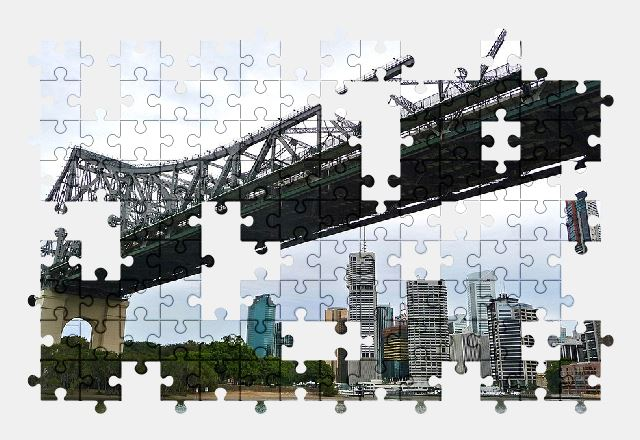 free jigsaw puzzle online bridge,river,architecture,australia,city,buildings