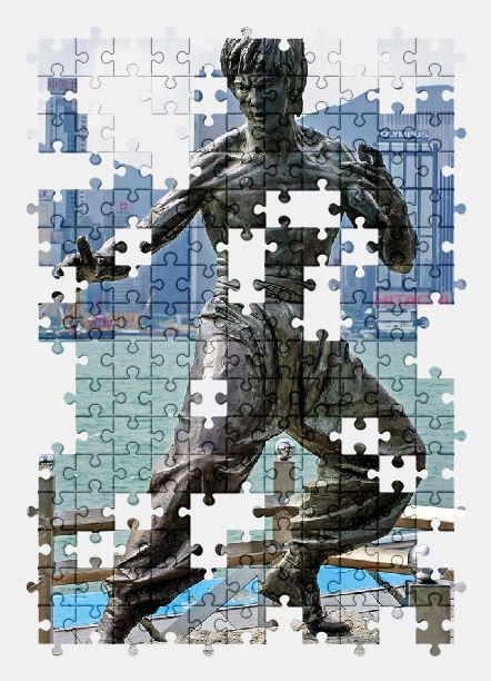free jigsaw puzzle online hong-kong,city,statue