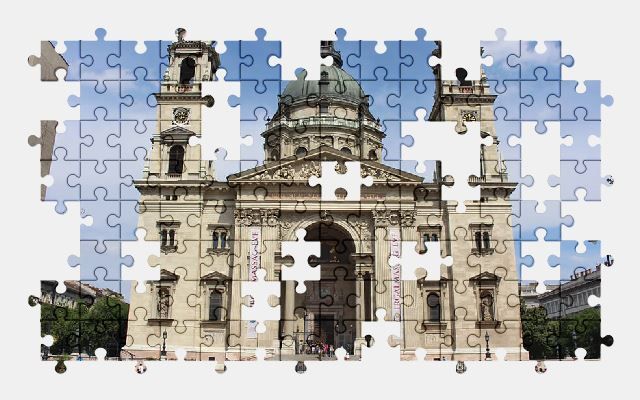 free jigsaw puzzle online budapest,catholic,church,architecture