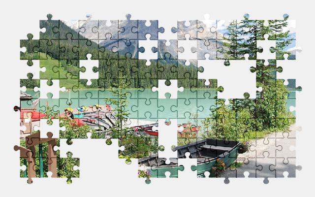 free jigsaw puzzle online canada,lake,mountains,nature