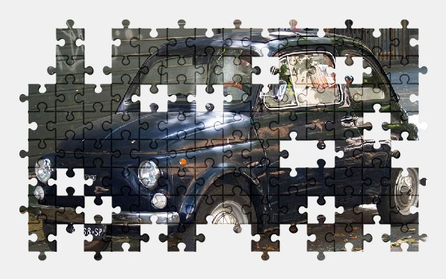 free jigsaw puzzle online car,fiat,automobile,retro,auto,vehicle