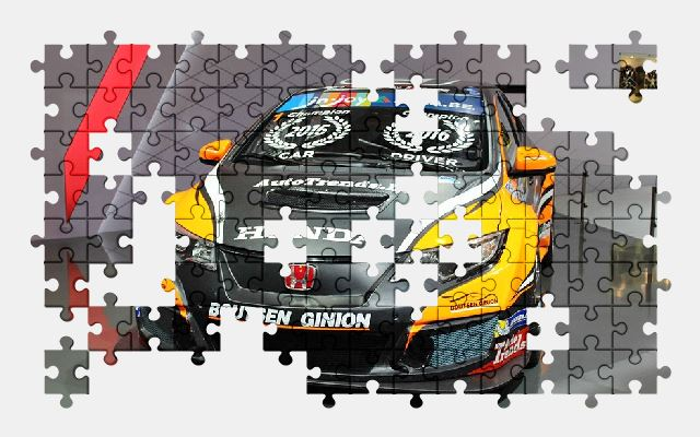 free jigsaw puzzle online car,vehicle,honda,sports-car,rally,auto,automobile