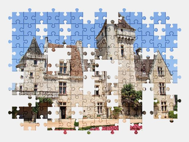 free jigsaw puzzle online castle,chateau,france,architecture