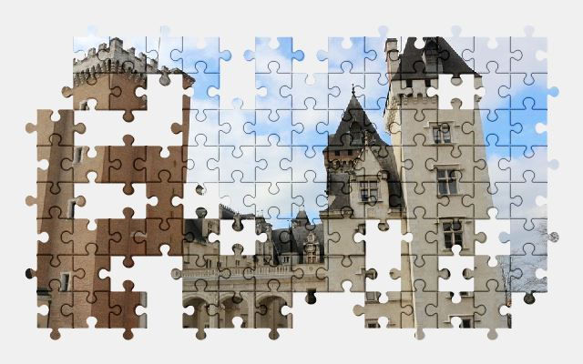 free jigsaw puzzle online castle,france,building,architecture