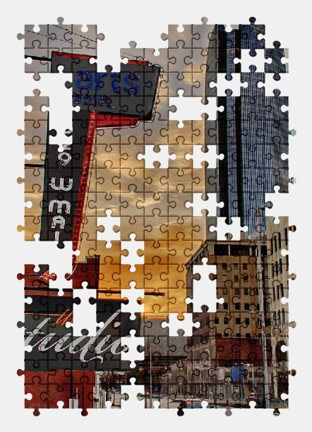 free jigsaw puzzle online city,oklahoma,sunset,sky,building