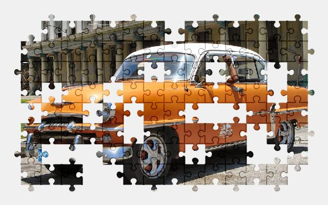 free jigsaw puzzle online classic,car,oldtimer,old,auto,vehicle,cuba