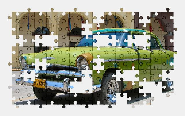 free jigsaw puzzle online classic,car,oldtimer,vehicle,cuba,vintage