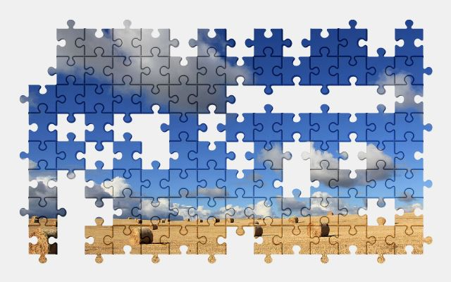 free jigsaw puzzle online clouds,farm,field,nature