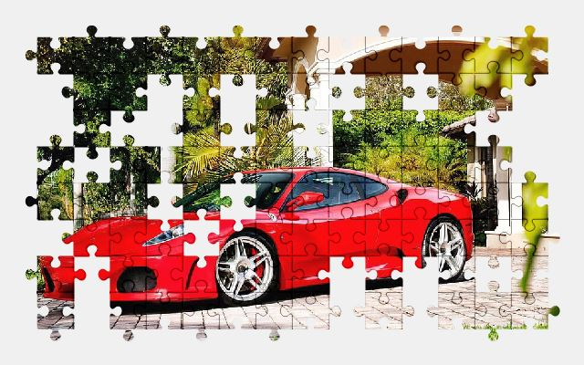 free jigsaw puzzle online ferrari,sports-car,car,auto,automobile,speed