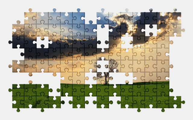free jigsaw puzzle online countryside,tree,landscape,nature,sky