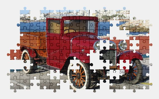 free jigsaw puzzle online dodge,retro,truck,old,vintage,car,automobile