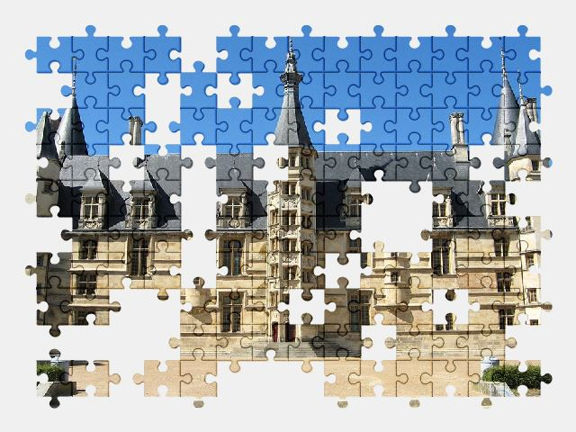 free jigsaw puzzle online palace,castle,france,building,architecture