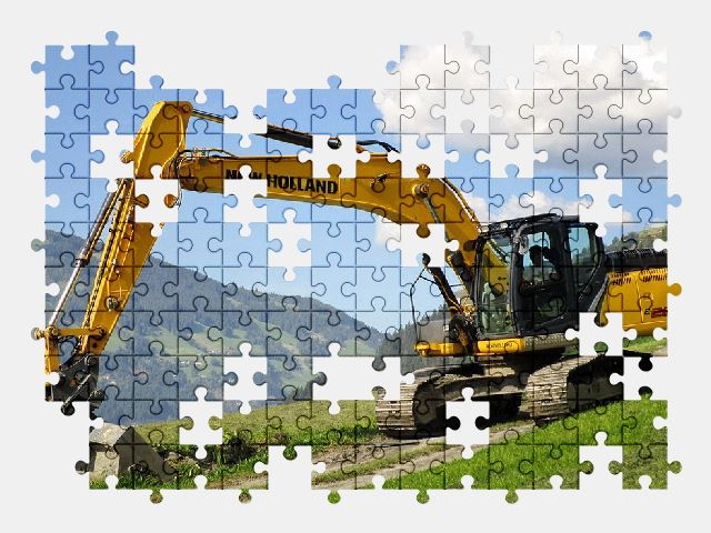 free jigsaw puzzle online excavator,vehicle