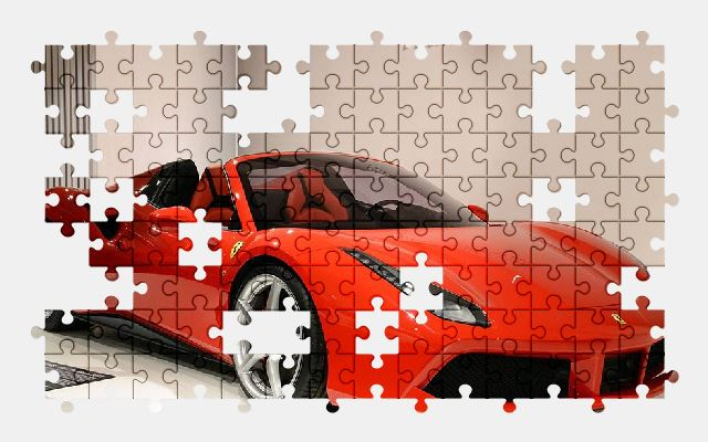 free jigsaw puzzle online ferrari,red,sports-car,vehicle,automobile,auto