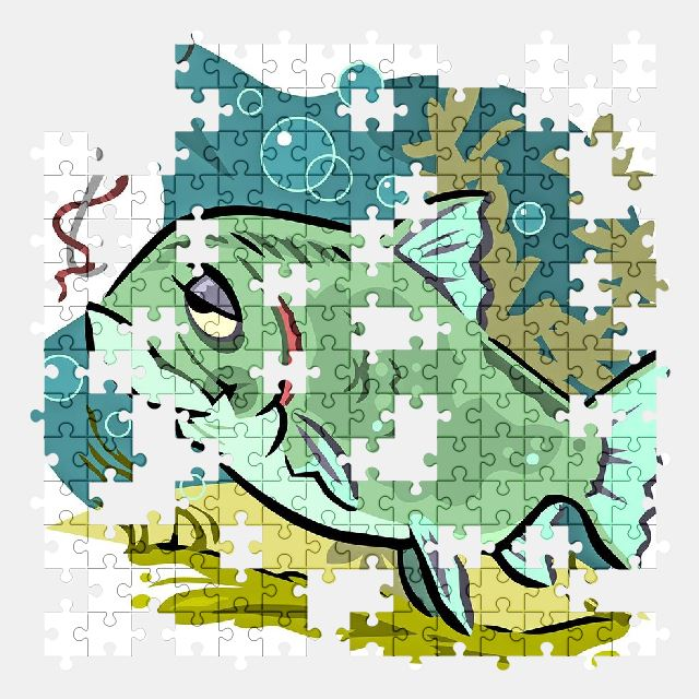 free jigsaw puzzle online fish,water,cartoon