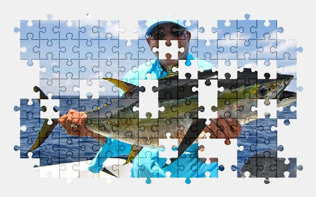 free jigsaw puzzle online fishing,ocean,costa-rica,fish