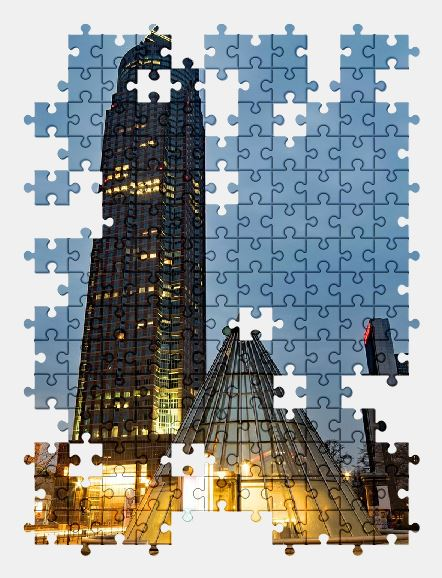 free jigsaw puzzle online frankfurt,germany,city,architecture,building,night-city