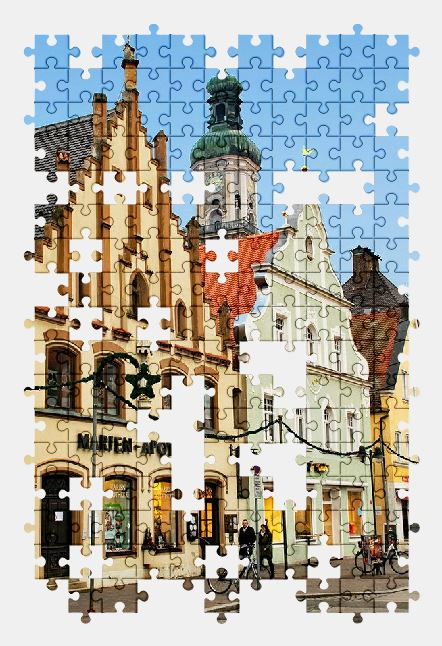 free jigsaw puzzle online bavaria,germany,town,church,city,architecture