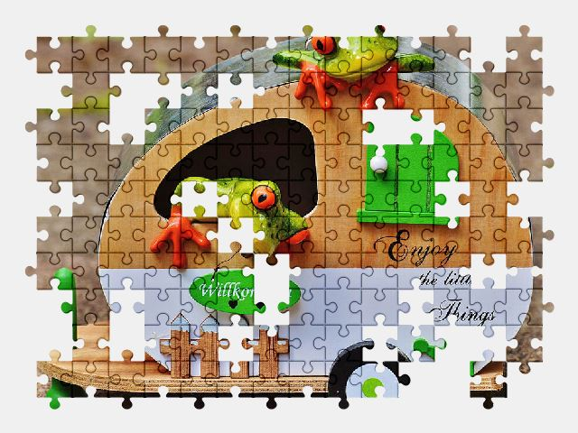 free jigsaw puzzle online frogs,funny,travel