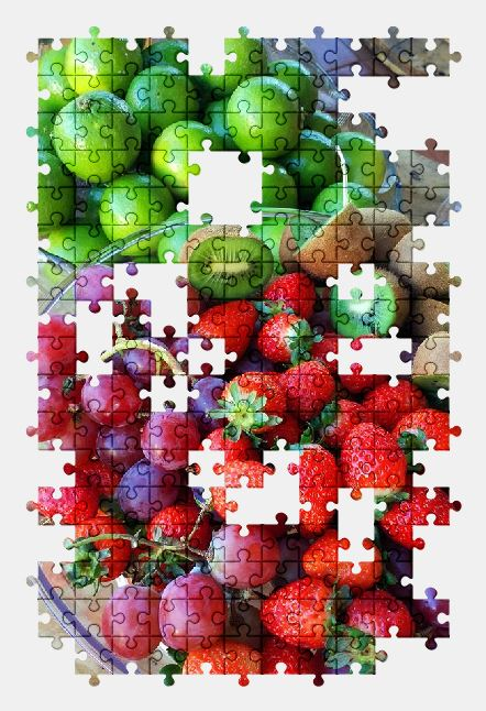 free jigsaw puzzle online fruit,fruits,kiwi,lemon,strawberry,grapes,food