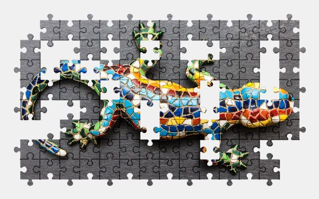 free jigsaw puzzle online lizard,animal
