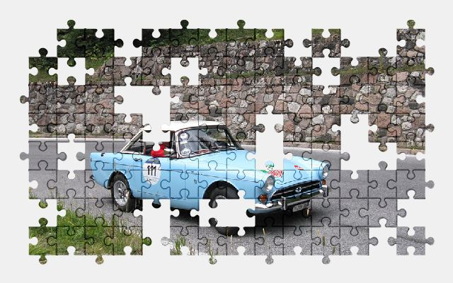 free jigsaw puzzle online vintage,car,italian,race,retro,sports-car,auto,automobile