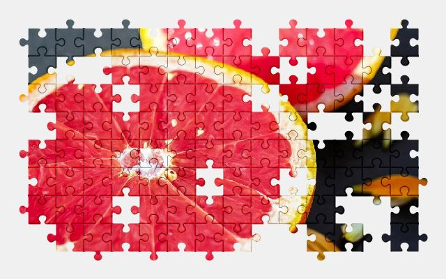 free jigsaw puzzle online grapefruit,fruit,red,sweet,eat,food