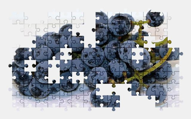 free jigsaw puzzle online grapes,fruit,eat,food,nature,plant