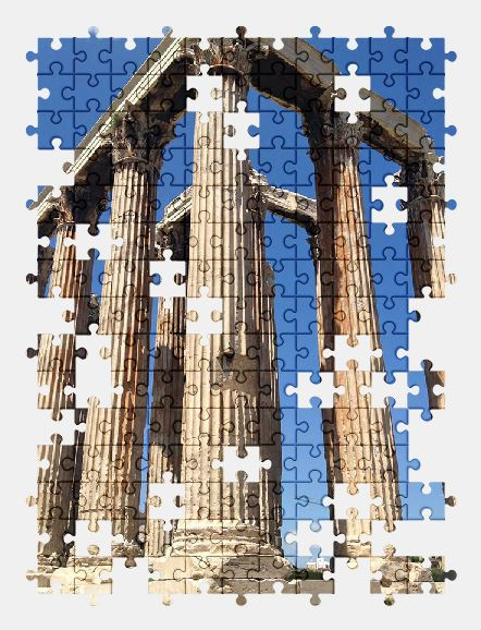 free jigsaw puzzle online greece,architecture