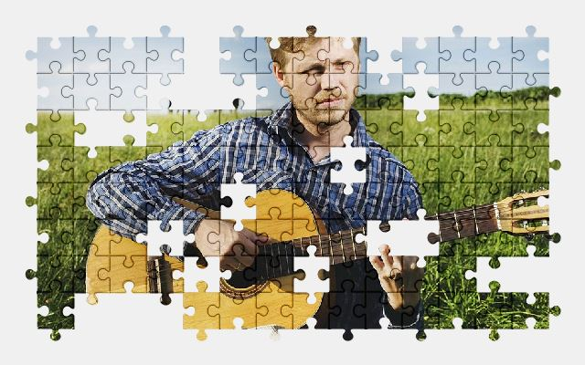 free jigsaw puzzle online guitar,musician