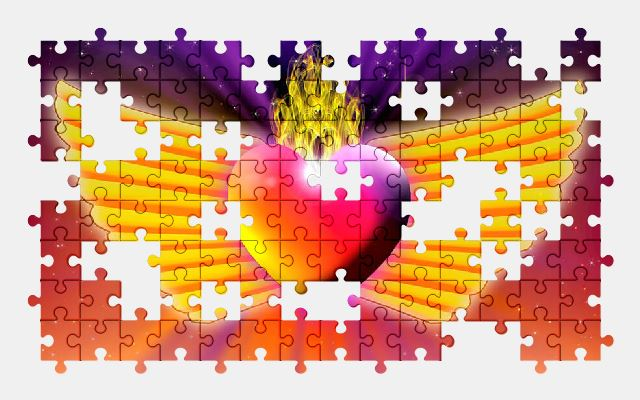 free jigsaw puzzle online heart,love