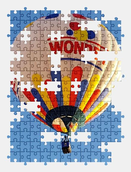 free jigsaw puzzle online hot-air-balloon,sky