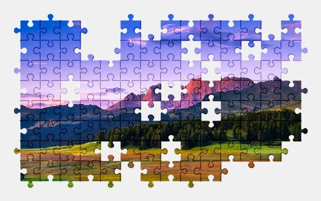 free jigsaw puzzle online italy,landscape,sky,clouds,valley,nature