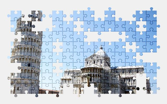 free jigsaw puzzle online italy,pisa,tower,monument,history,city