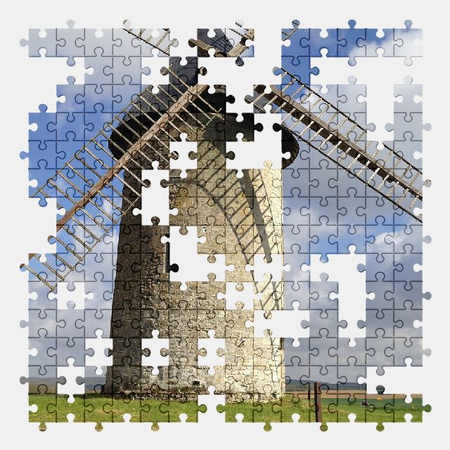 free jigsaw puzzle online landscape,windmill,old,history