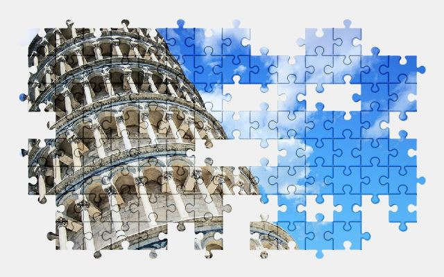 free jigsaw puzzle online tower,pisa,italy,architecture,building