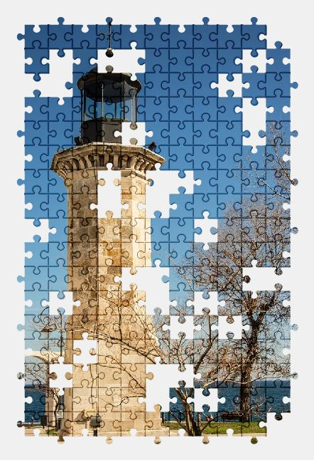 free jigsaw puzzle online lighthouse,romania,sky,sea,travel,building,nature